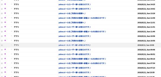 アプリ大谷綾Yahooメール